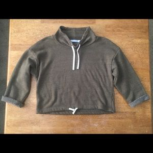 Alternative apparel crop sweatshirt